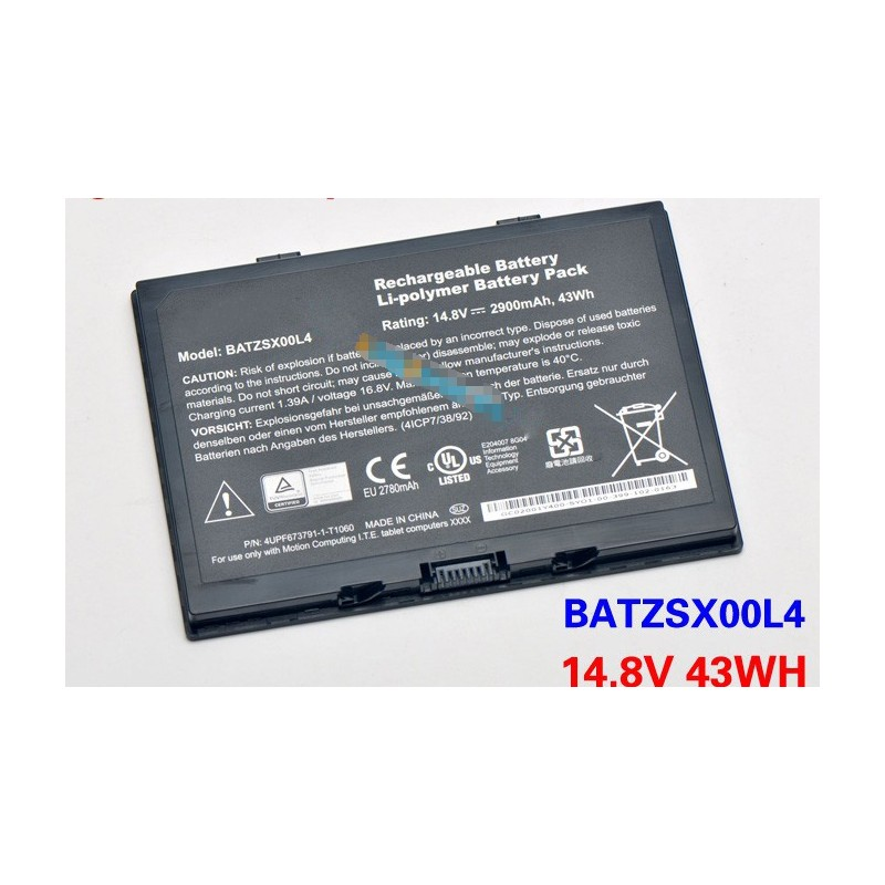 Motion Computing R12 BATZSX00L4 43Wh Battery