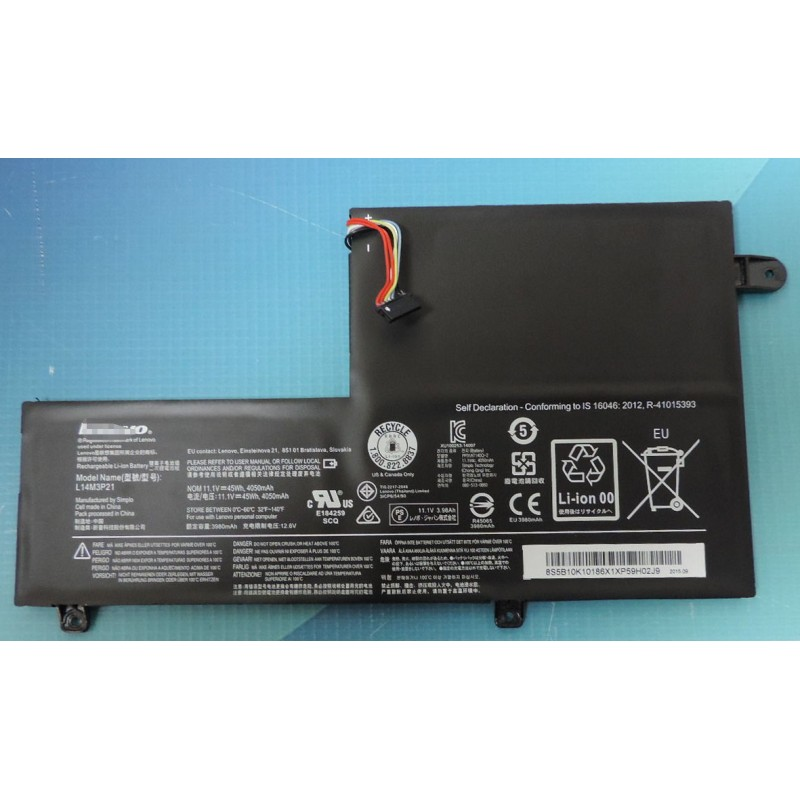 Genuine Lenovo Edge 2 1580 Flex 3 1470 L14M3P21 Battery